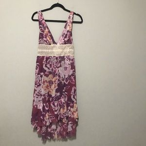 Free People Floral High Low Dress